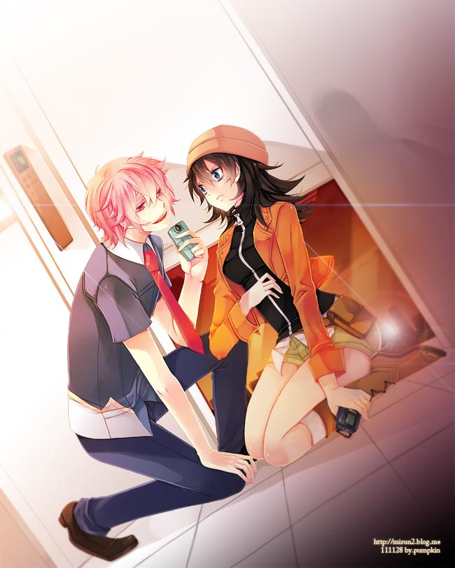 Tags: Anime, kempin, Mirai Nikki, Amano Yukiteru, Gasai Yuno, Future Diary