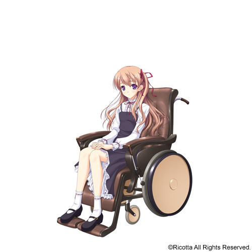 Tags: Anime, Komori Kei, Ricotta, Walkure Romanze, Mireille Marres Ascot, Wheelchair, Wheel, Official Art