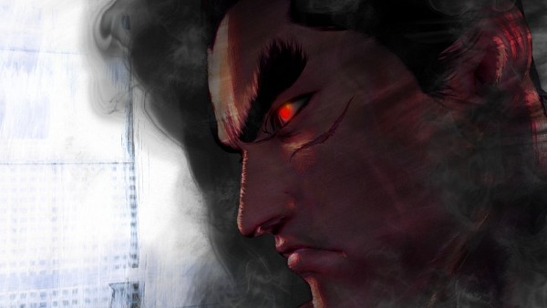 Tags: Anime, Tekken, Mishima Kazuya, Close Up, Glowing Eyes, Widescreen 16:9 Ratio, Glow