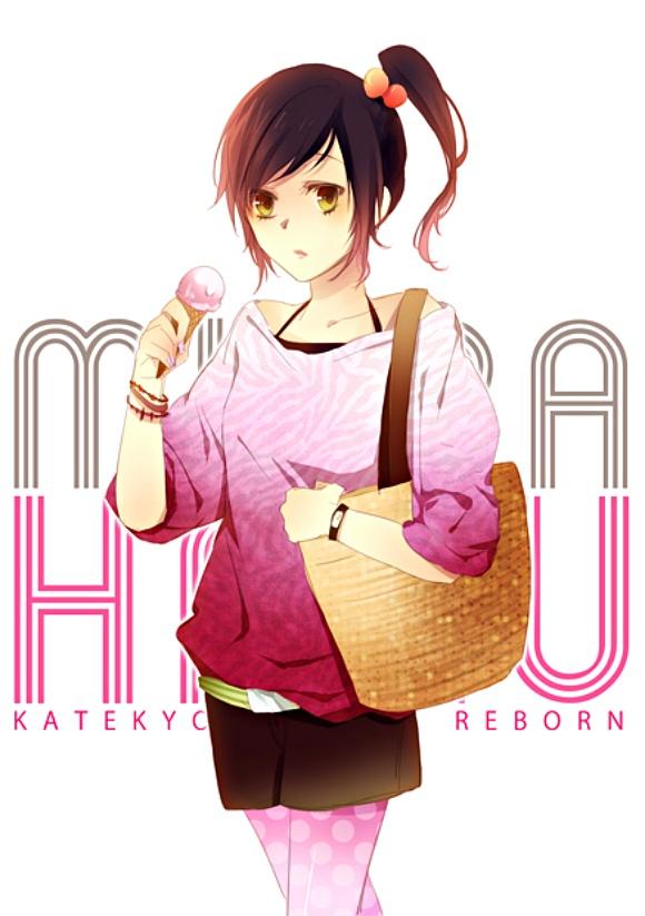Tags: Anime, Katekyo Hitman REBORN!, Miura Haru, Handbag, Mobile Wallpaper