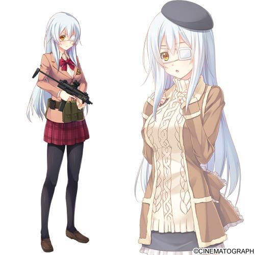 Tags: Anime, Oosaki Shinya, CINEMATOGRAPH, Innocent Bullet -the false world-, Miyasu Sanae, Official Art, Cover Image