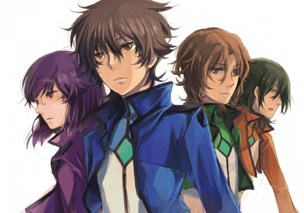 Tags: Anime, Mobile Suit Gundam 00, Tieria Erde, Neil Dylandy, Setsuna F. Seiei, Lyle Dylandy, Lockon Stratos