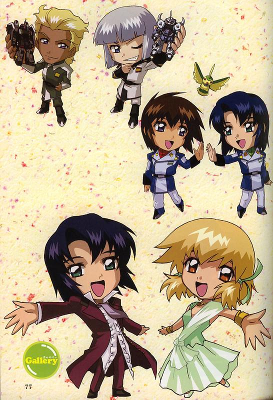 Tags: Anime, Mobile Suit Gundam SEED Destiny, Mobile Suit Gundam SEED, Dearka Elsman, Athrun Zala, Yzak Joule, Kira Yamato, Cagalli Yula Athha