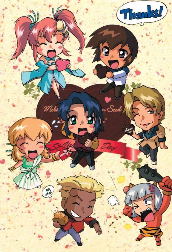 Tags: Anime, Mobile Suit Gundam SEED, Dearka Elsman, Athrun Zala, Yzak Joule, Kira Yamato, Mwu La Flaga, Cagalli Yula Athha, Nicol Amalfi
