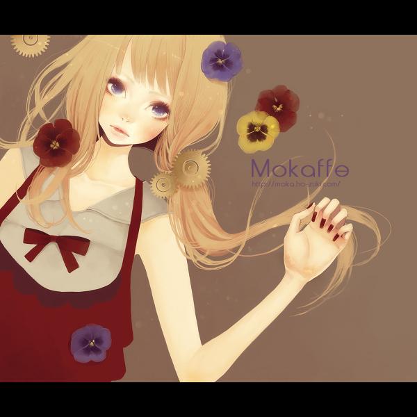 Tags: Anime, Mokaffe, Pansy, Violet (Flower), Pixiv, Original