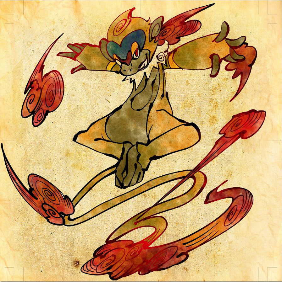 Monferno Pok 233 Mon Zerochan Anime Image Board