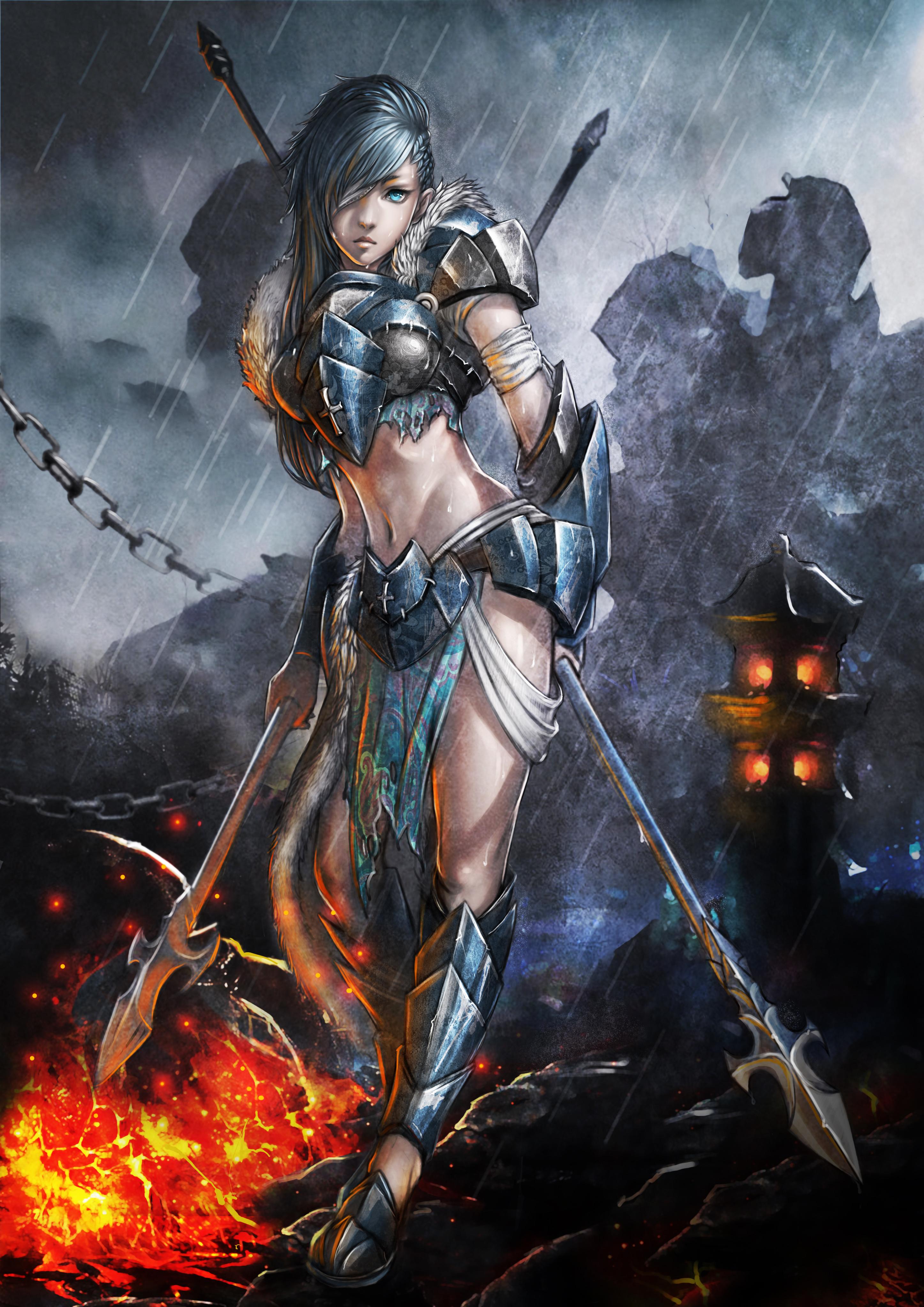 Girls in armor hentai photo