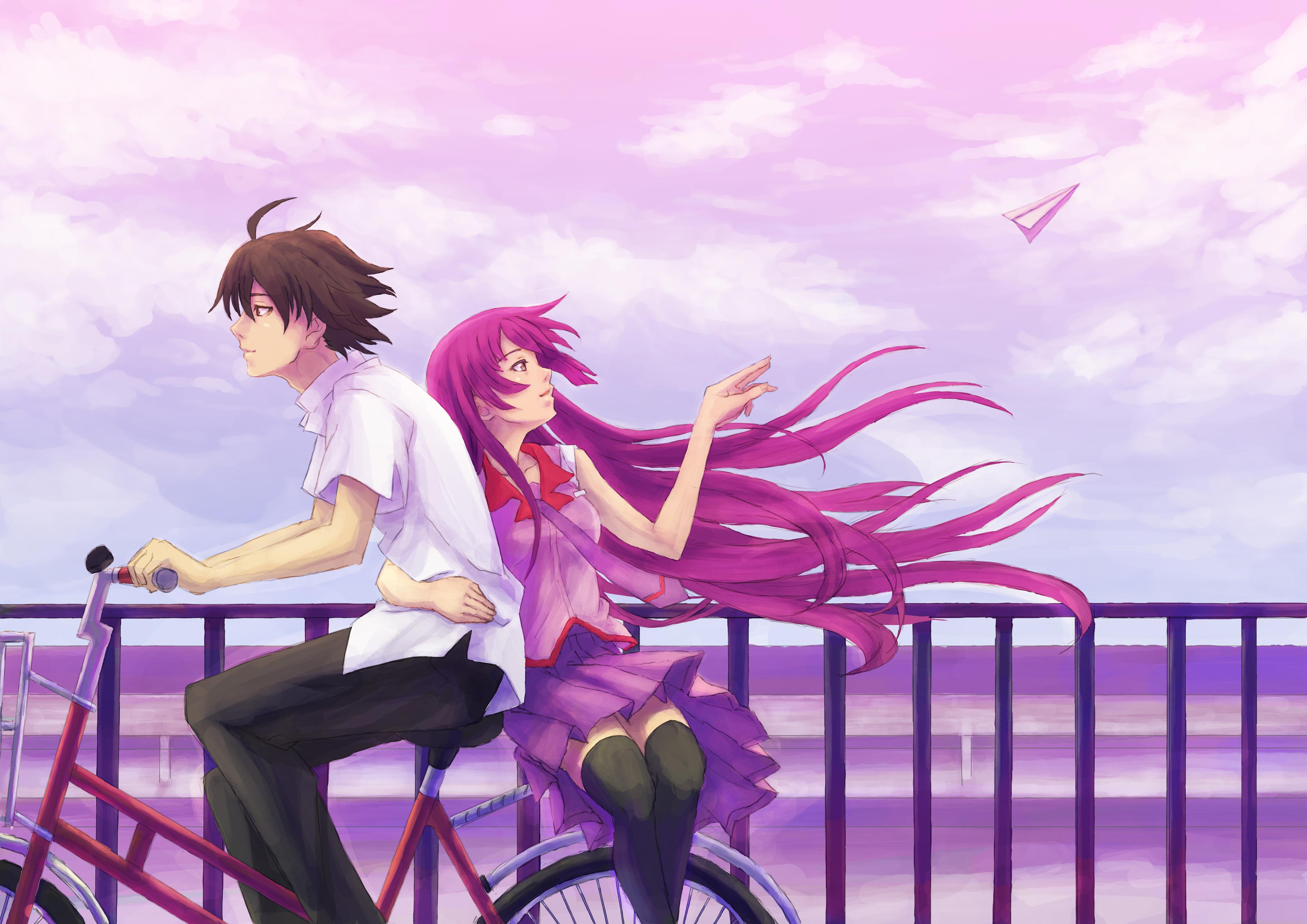 Pertama Dari Monogatara Series Dengan Pasangan Senjougahara Hitagi Dan Araragi Koyomi Mereka Berdua Unik Karena Merupakan Tsundere