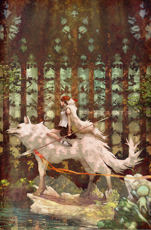 princess mononoke wallpaper art