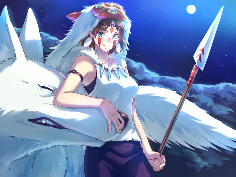 Mononoke Hime Princess Mononoke Spear Zerochan Anime Image Board