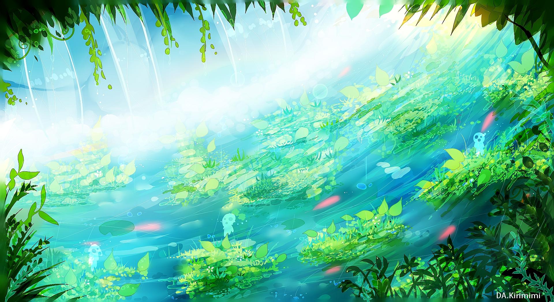 Fondo Animado Campo Parque Full Hd Animate Background: Mononoke Hime (Princess Mononoke) Wallpaper #1780182