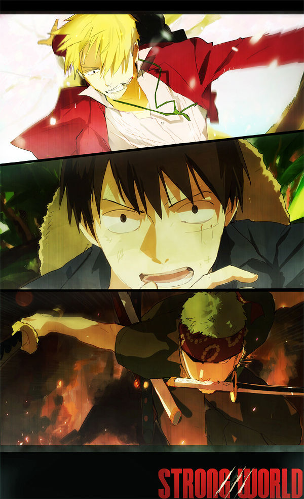 Tags: Anime, ONE PIECE, Roronoa Zoro, Sanji, Monkey D. Luffy, Mobile Wallpaper, Monster Trio, The Eleven Supernovas, Straw Hat Pirates