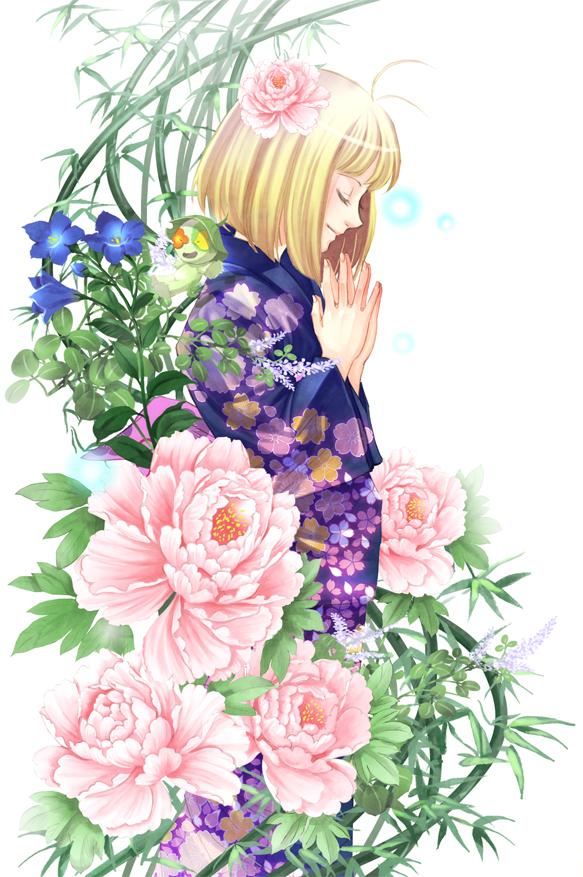Tags: Anime, Raka, Ao no Exorcist, Ni, Moriyama Shiemi, Pixiv, Mobile Wallpaper, Fanart