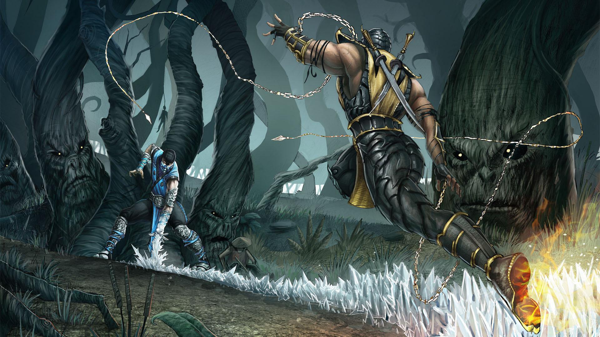 Tags: Anime, Mortal Kombat, Scorpion (Mortal Kombat), Sub-zero, Nature ...