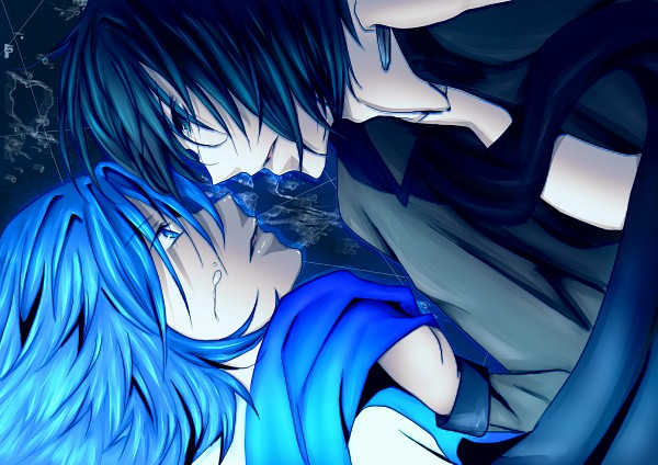 Tags: Anime, Vocaloid, KAITO, Mosaic Role, Deco*27