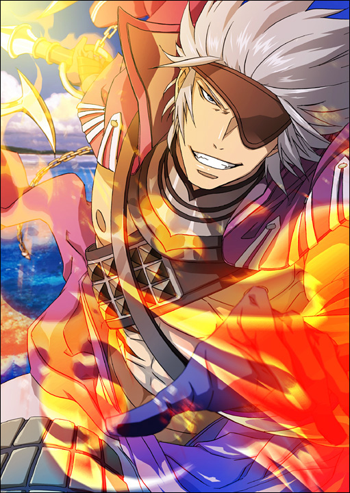 Tags: Anime, Sengoku Basara, Motochika Chosokabe (Sengoku Basara), Anchor, Mobile Wallpaper, Pixiv