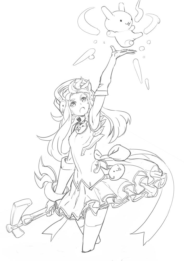 Zerochan Lineart : Moxi image  zerochan anime board