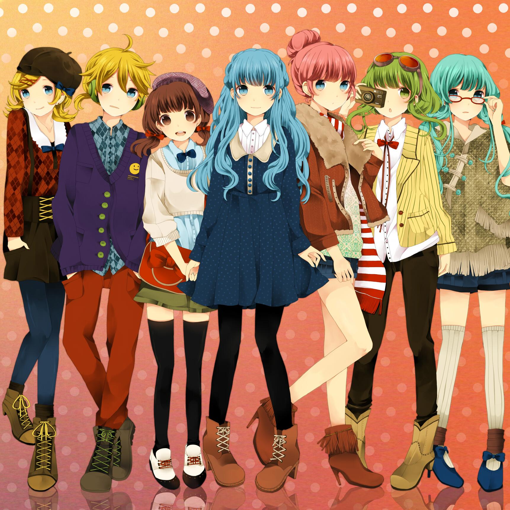 Компания аниме девушек картинки