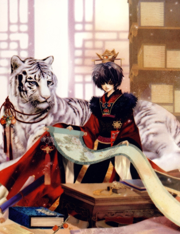 Tags: Anime, Yun Mi-kyung, Bride Of The Water God, Mui, Habaek, White Tiger, Manga Color, Official Art, Scan