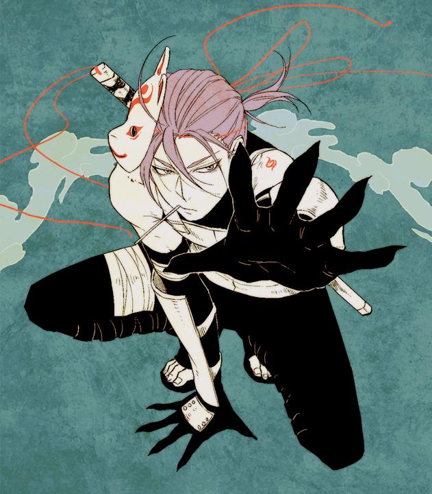 Tags: Anime, Umashima, Kuroko no Basuke, Murasakibara Atsushi, Anbu Mask, Anbu (Cosplay), Pixiv
