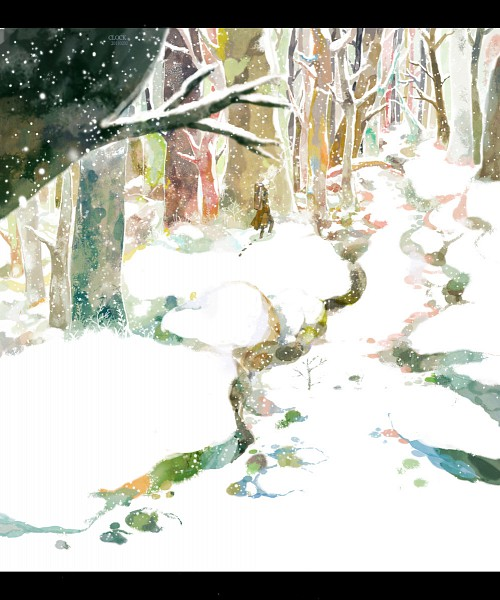 Tags: Anime, Sarnath, Mushishi, Ginko (Mushishi), Winter, Forest, Nature