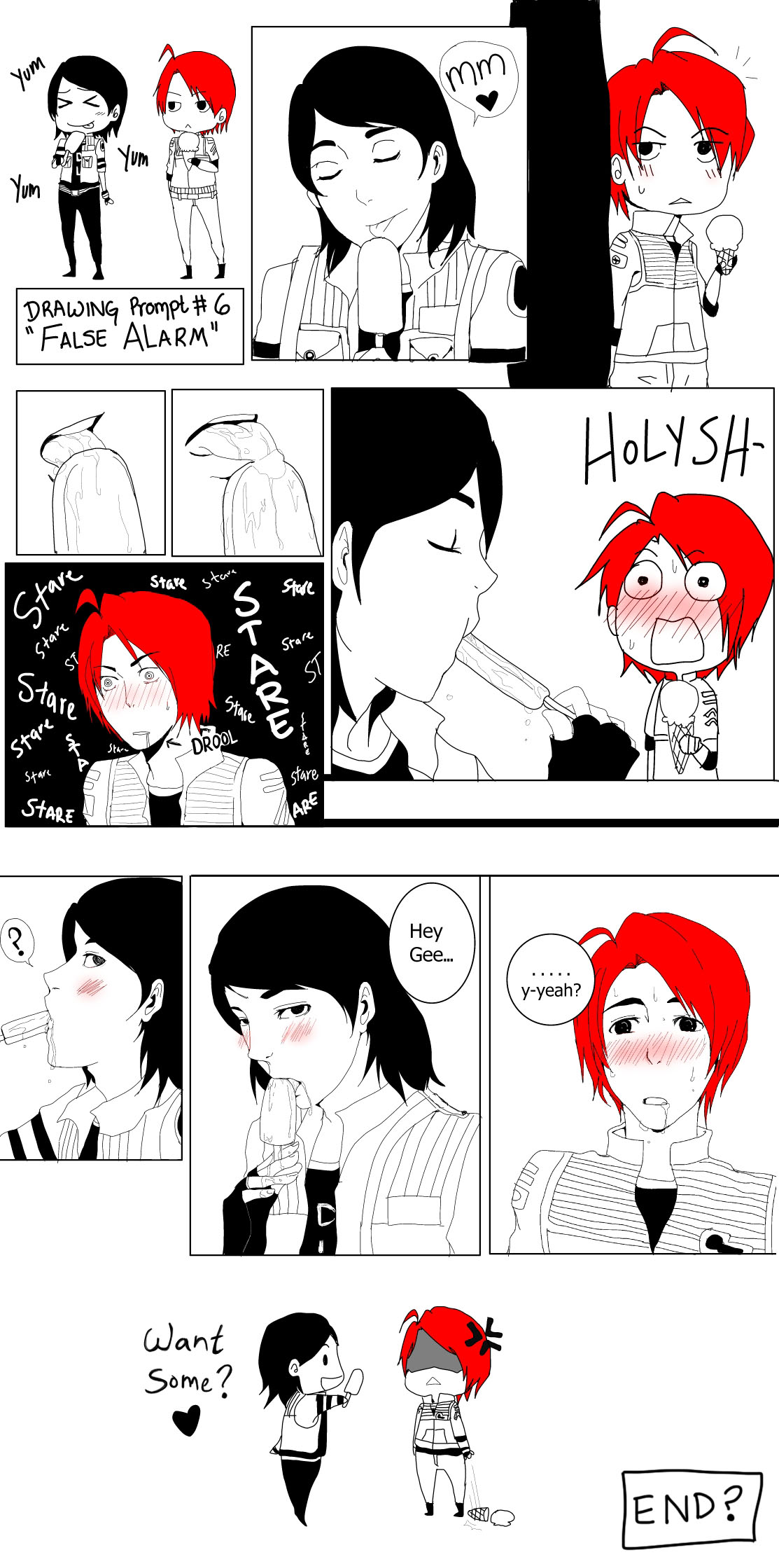 It is a picture of Playful Mcr Cartoon Drawing