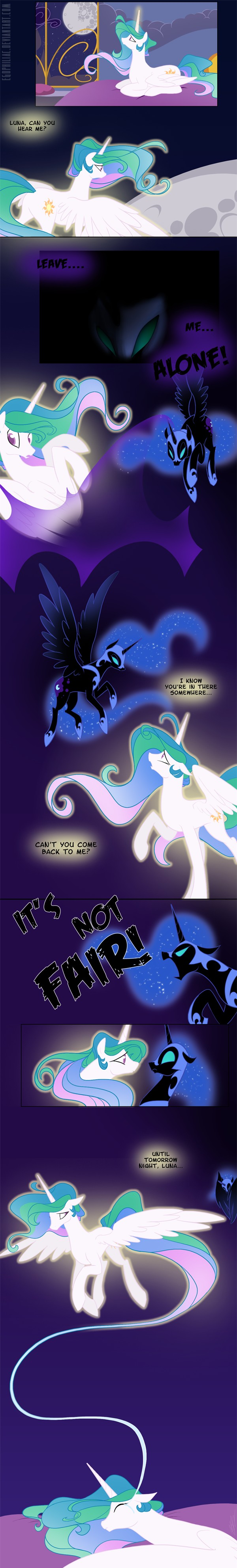 Tags: Anime, Egophiliac, My Little Pony, Princess Luna, Princess Celestia, Nightmare Moon, Pegasus, deviantART, Fanart, Fanart From DeviantART