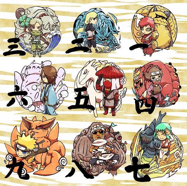 Tags: Anime, Pixiv Id 4519096, NARUTO, Sanbi no Kyodaigame, Gaara, Utakata (NARUTO), Nanabi