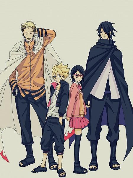 Tags: Anime, Pixiv Id 2510976, NARUTO, Uzumaki Boruto, Uchiha Sasuke, Uchiha Sarada, Uzumaki Naruto