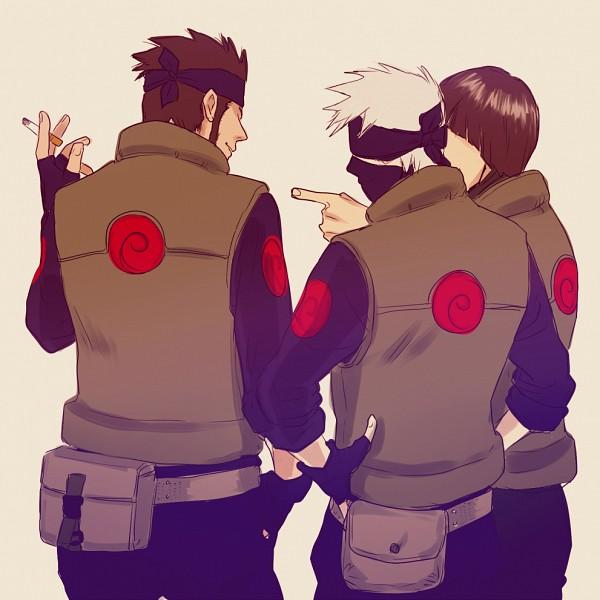 Tags: Anime, Pixiv Id 9755637, NARUTO, Sarutobi Asuma, Hatake Kakashi, Might Guy, Pointing