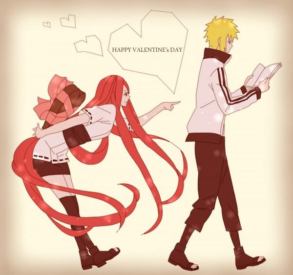 Tags: Anime, Pixiv Id 2476860, NARUTO, Uzumaki Kushina, Namikaze Minato, Gift, Chocolate Heart