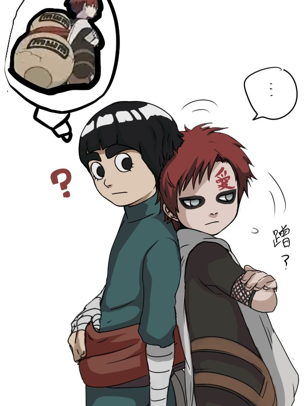 NARUTO/#1098517 - Zerochan Gaara And Rock Lee