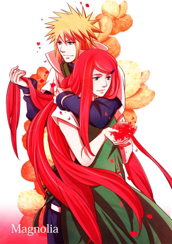 Tags: Anime, NARUTO, Uzumaki Kushina, Namikaze Minato, Hug From Behind