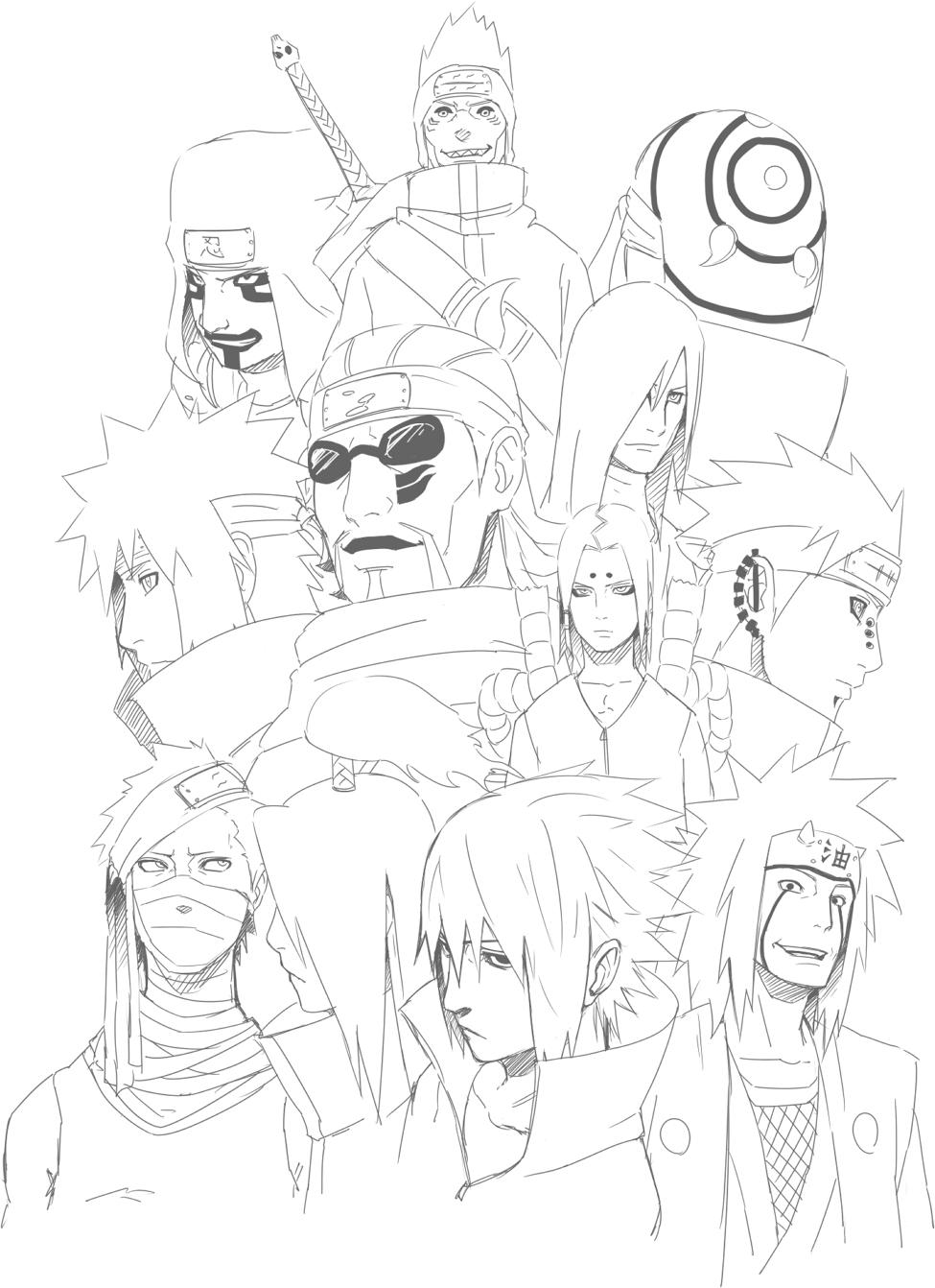 Naruto zabuza drawing
