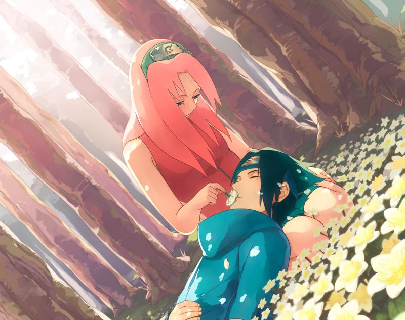 Wallpaper Sasuke Sakura Romantis