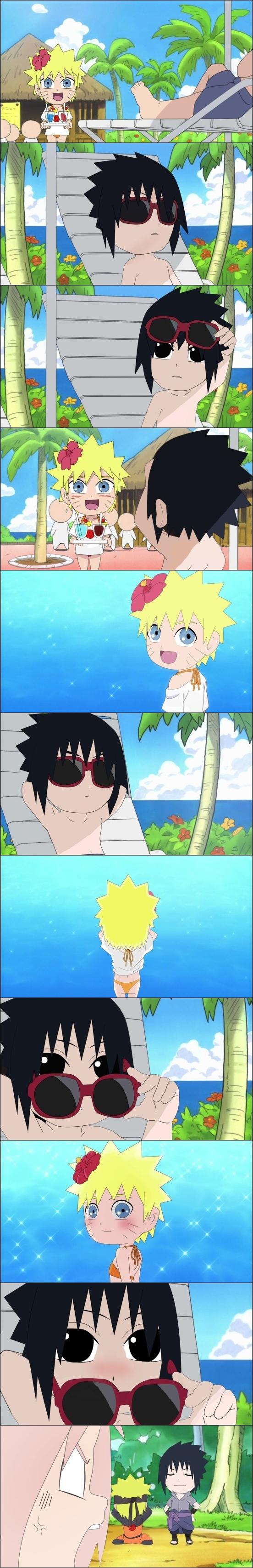 Tags: Anime, Pixiv Id 2445804, Rock Lee no Seishun Full-Power Ninden, NARUTO, Uchiha Sasuke, Uzumaki Naruto, Haruno Sakura, Honeymoon, Comic, Edited, NaruSasu