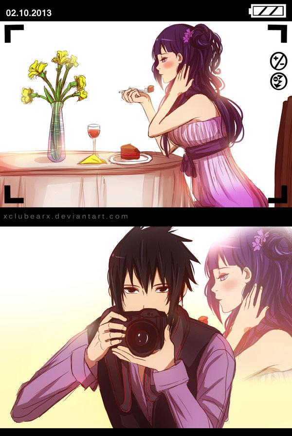 Tags: Anime, Xclubearx, NARUTO, Hyuuga Hinata, Uchiha Sasuke, Mobile Wallpaper, SasuHina
