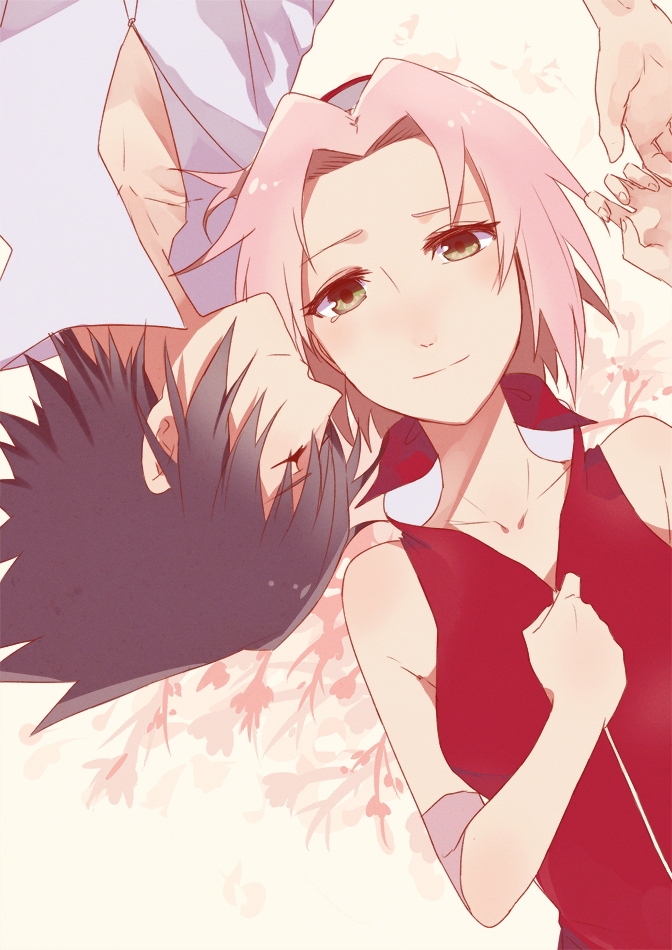 Tags: Anime, Karudoll, NARUTO, Uchiha Sasuke, Haruno Sakura, Mobile Wallpaper, Fanart From DeviantART, Fanart, deviantART, SasuSaku