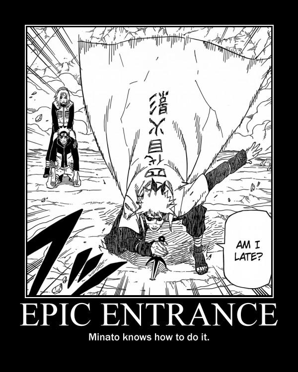 Tags: Anime, Kishimoto Masashi, NARUTO, Uzumaki Naruto, Haruno Sakura, Namikaze Minato, Demotivational Poster, Scan, Manga Page