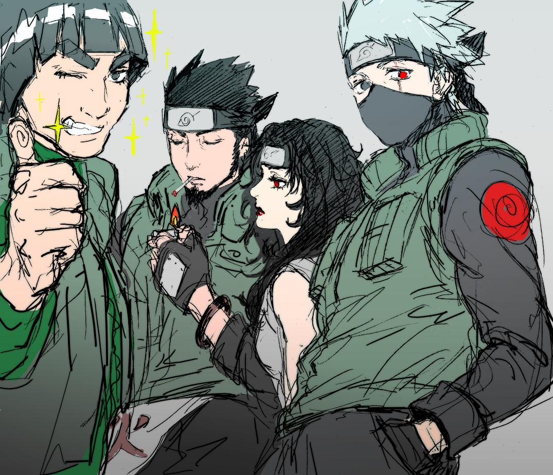Kurenai and kakashi