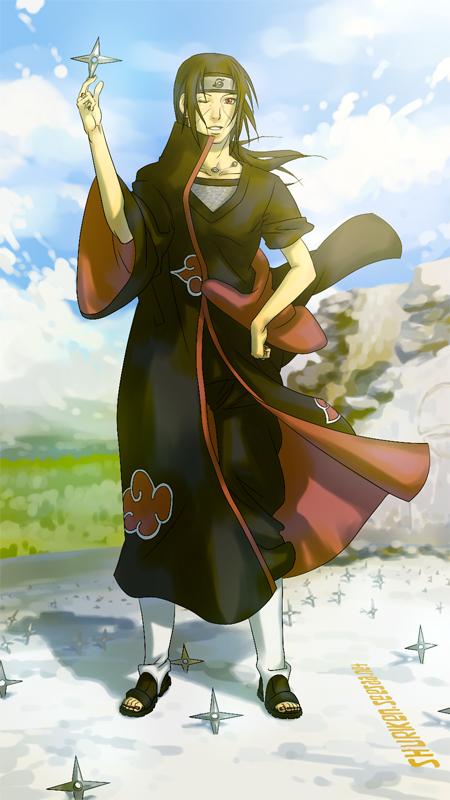 Tags: Anime, Shuriken01, NARUTO, Uchiha Itachi, Shuriken, Fanart, Akatsuki (NARUTO)
