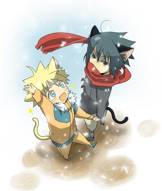 Tags: Anime, Katsuko, NARUTO, Uzumaki Naruto, Uchiha Sasuke, Fanart, Pixiv, Jinchuuriki