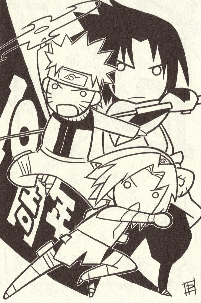 Tags: Anime, Naruto Hiden: Kai No Sho Official Fanbook, NARUTO, Uchiha Sasuke, Uzumaki Naruto, Haruno Sakura, Scan, Mobile Wallpaper, Official Art, Jinchuuriki