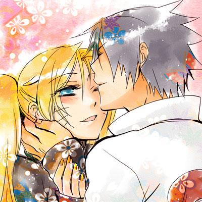 Tags: Anime, Miyata Mako, NARUTO, Uzumaki Naruto (Female), Uchiha Sasuke, Orange Nails, Fanart, NaruSasu
