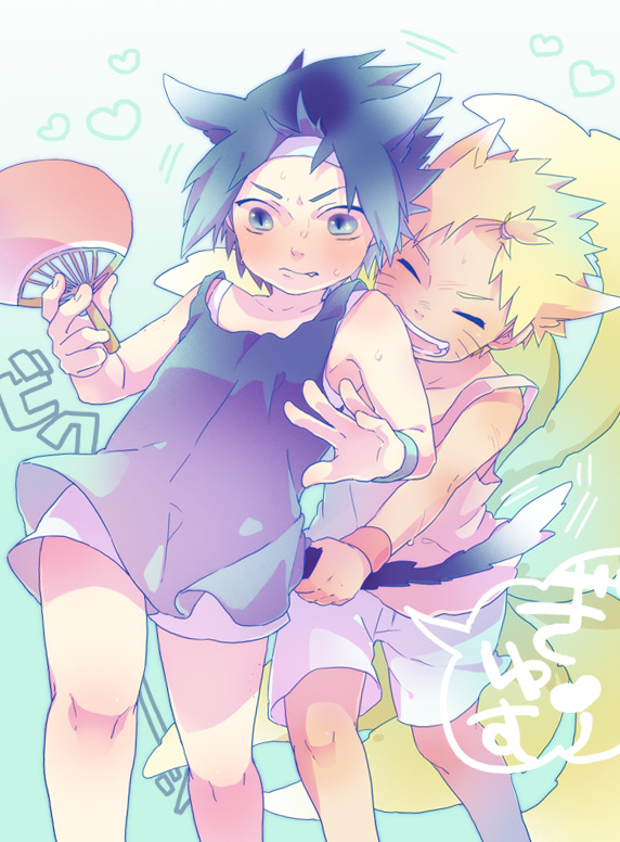 Tags: Anime, Pixiv Id 45943, NARUTO, Uchiha Sasuke, Uzumaki Naruto, Fanart, Pixiv, Jinchuuriki