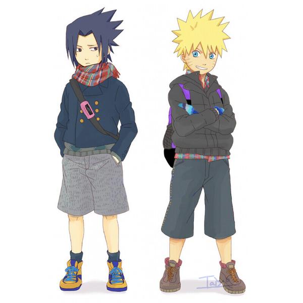 Tags: Anime, NARUTO, Uchiha Sasuke, Uzumaki Naruto, Breeches, Jinchuuriki