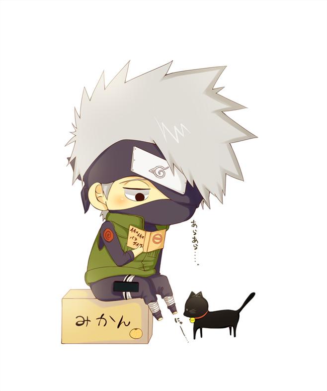 Sasuke With Black Cat