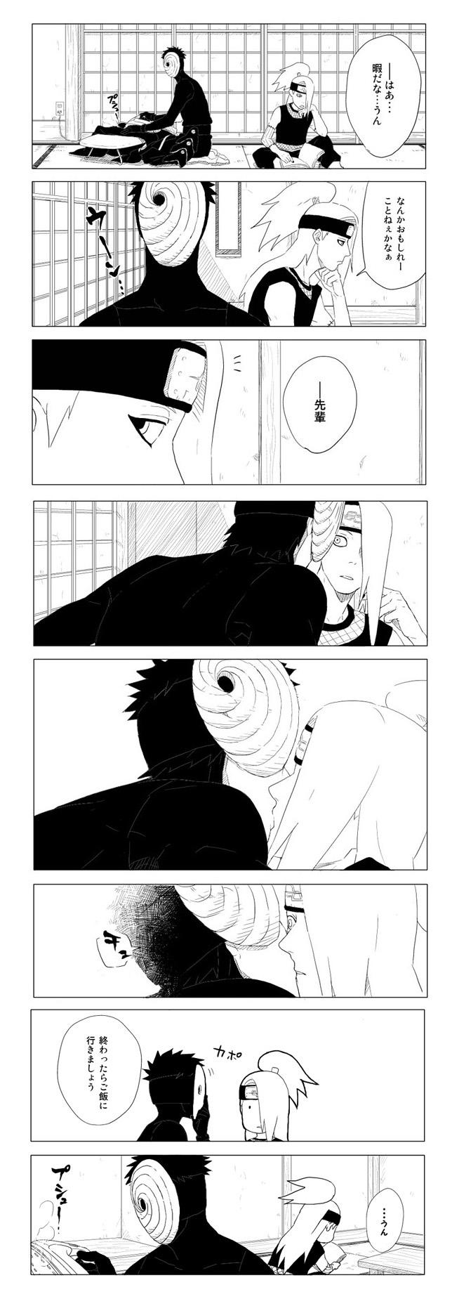 Tags: Anime, Mannmaruu, NARUTO, Tobi, Deidara, TobiDei, Akatsuki (NARUTO)