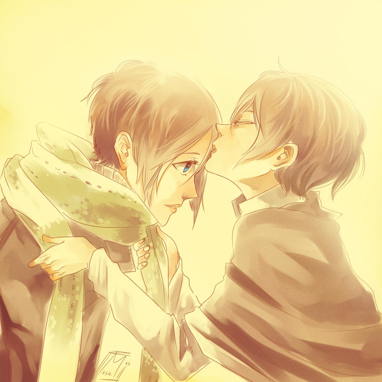 Nabari no Ou (King Of Nabari) Image #300381 - Zerochan ... Nabari No Ou Yoite And Miharu Kiss