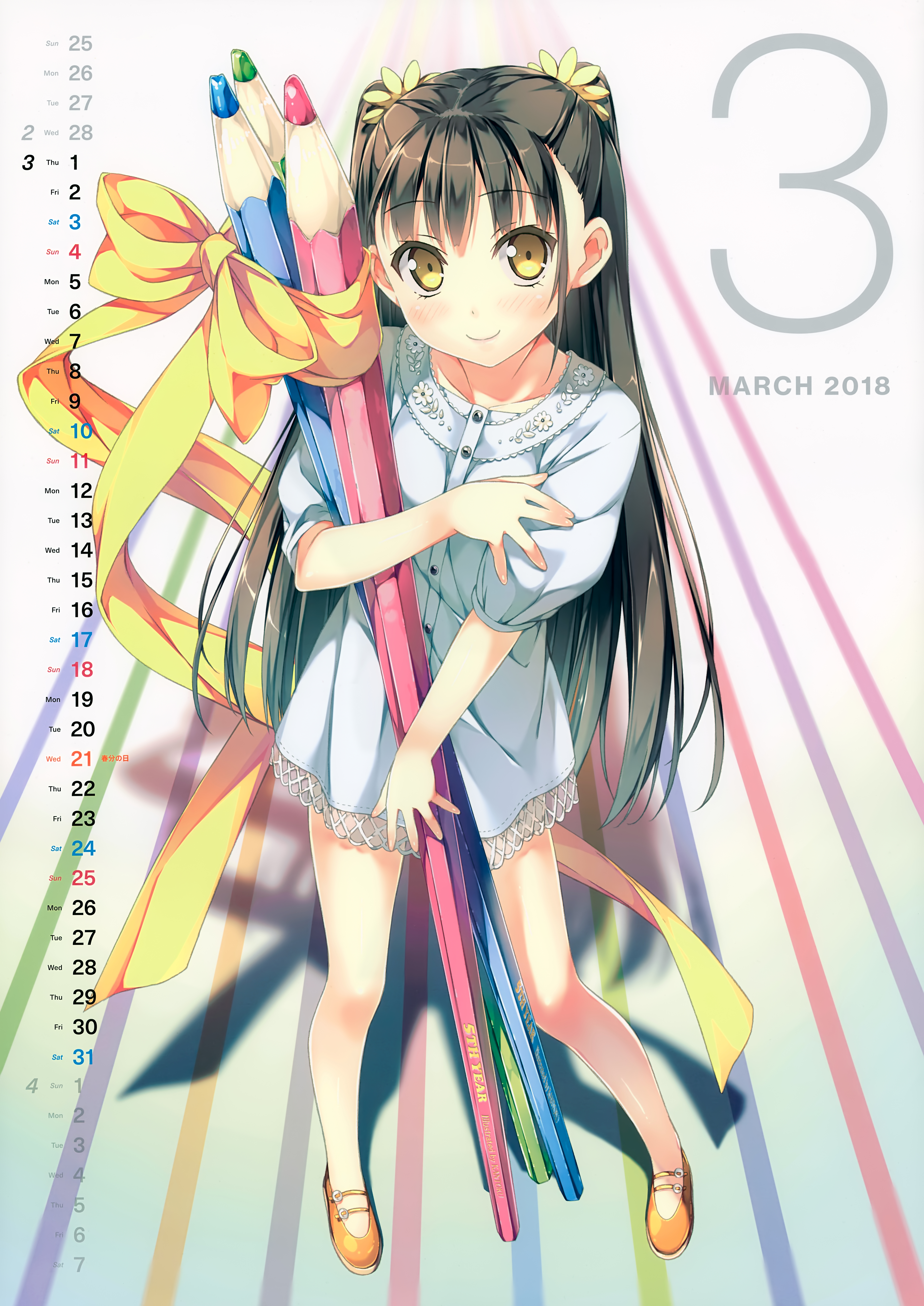 Kantoku calendar 2018 zerochan anime image board - Anime images download ...